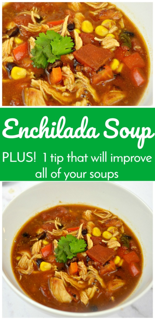 Enchilada Soup - Plus 1 Tip that Will Improve All of Your Soups!