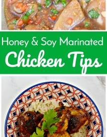 Honey & Soy Marinated Chicken Tips