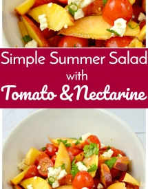 Simple Summer Salad with Tomato and Nectarine 1
