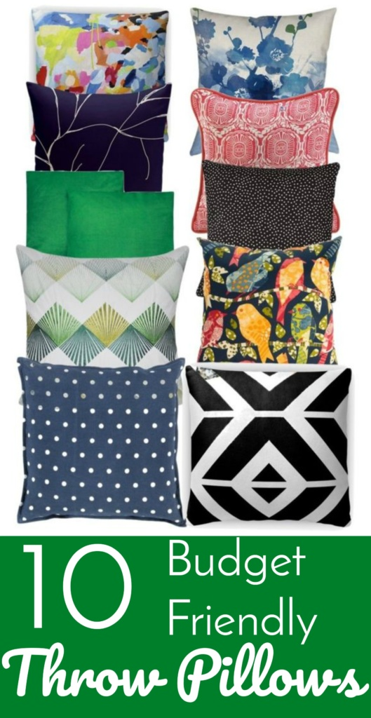10 Budget Friendly Throw Pillows