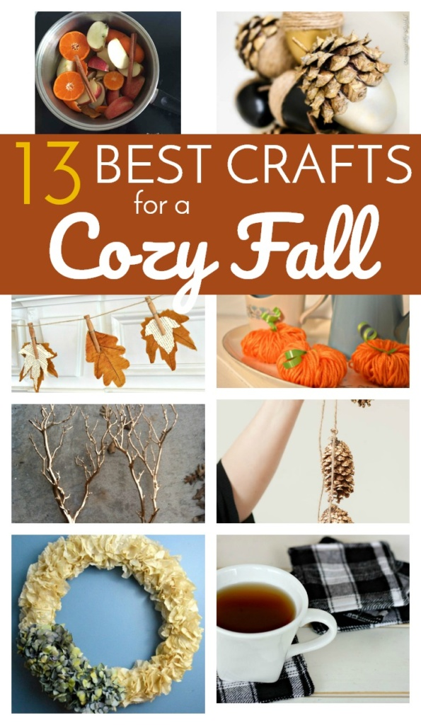 13 Best Crafts for a Cozy Fall - Hint: They are all simple, quick and beautiful!