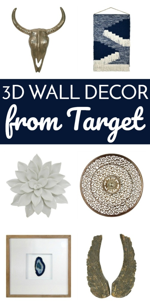 3D Wall Decor From Target - Putting together the perfect Gallery Wall? Don't forget a sculptural piece! Here are my 6 favorite 3D Wall Decor pieces from Target.