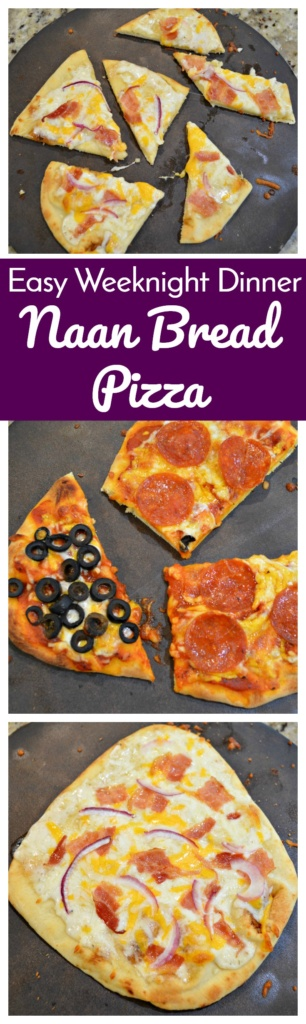 Naan Bread Pizza - An Easy Weeknight Dinner
