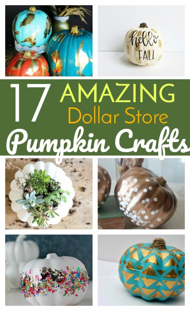 17 Amazing Dollar Store Pumpkin Crafts