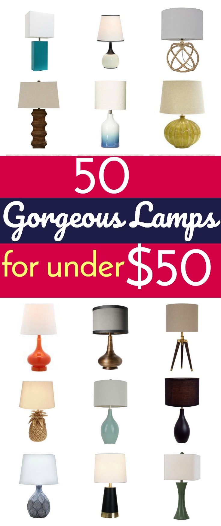 50 Gorgeous Lamps For Under $50   Where To Buy Gorgeous And Affordable Lamps