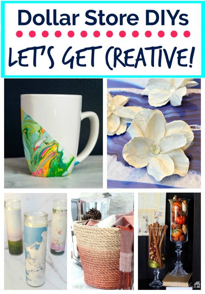 Let's Get Creative! I've collected the inspiration for awesome Dollar Store DIY's that you can totally make!