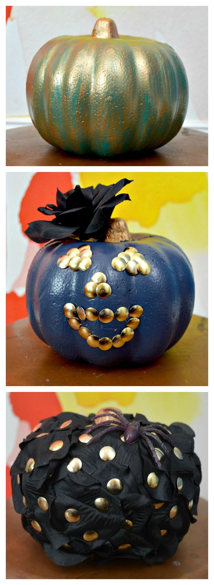 How to store pumpkins - 3 Dollar Store Pumpkin Makeovers