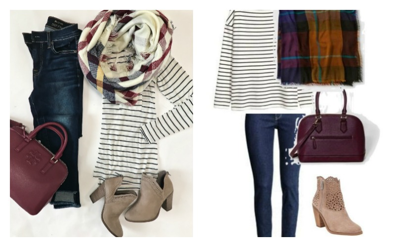 The Look for Less – Classic Fall Outfit with Blanket Scarf