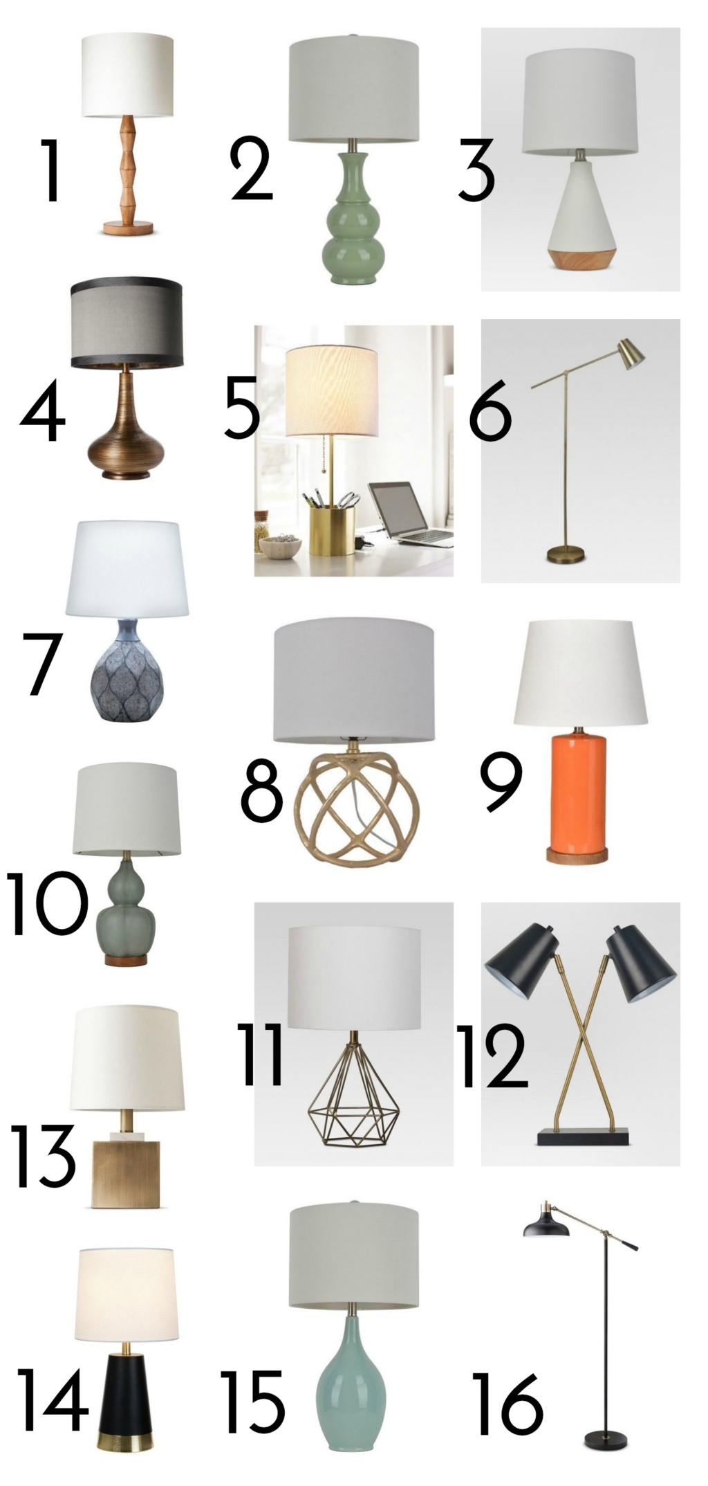 Where to buy lamps that are gorgeous and affordable 1 nixon 3999 2 green ceramic lamp 4603 3 modern tapered ceramic 2499 4 turned metallic 3848 5 stick lamp with storage aloadofball Image collections
