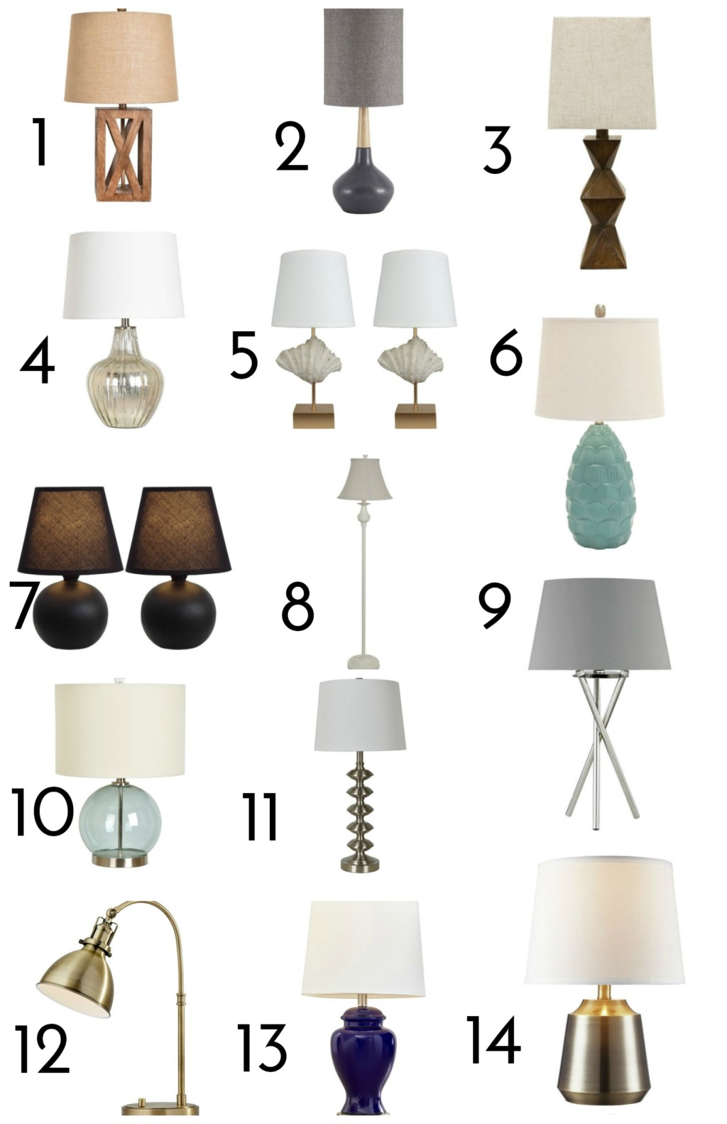 Superior 1 U2013 Camilla Table Lamps U2013 $49.99 | 2 U2013 Admiral Cove Set Of 2 U2013 $81.99 | 3 U2013  Chambray Stacked Diamond U2013 $46.99 | 4 U2013 Glass U0026 Metal U2013 $42.99 | 5 U2013 Shell  Set ...