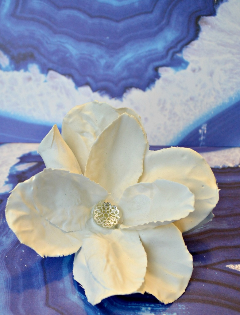 plaster dipped flower - diy dollar store craft
