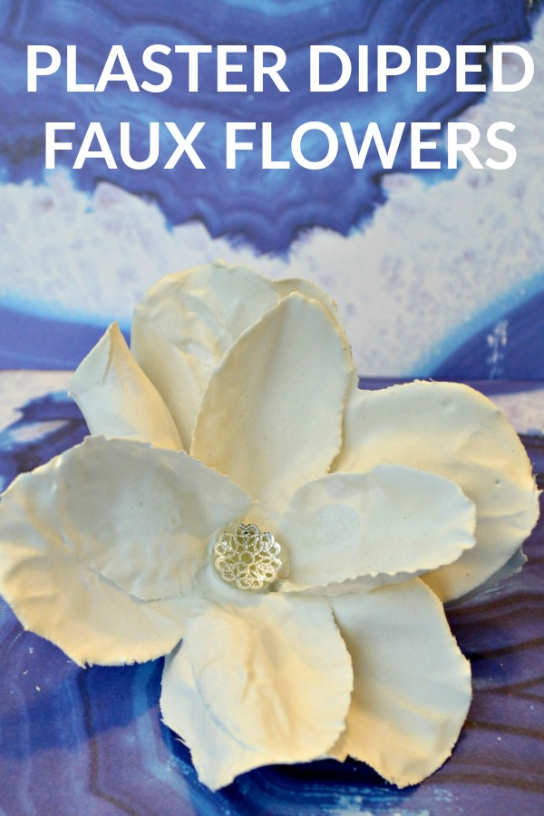 Plaster Dipped Faux Flowers