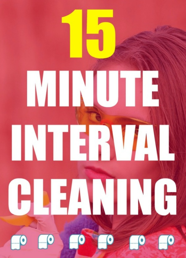 15 Minute Interval Cleaning will help you get your house back in order when you are feeling overwhelmed.