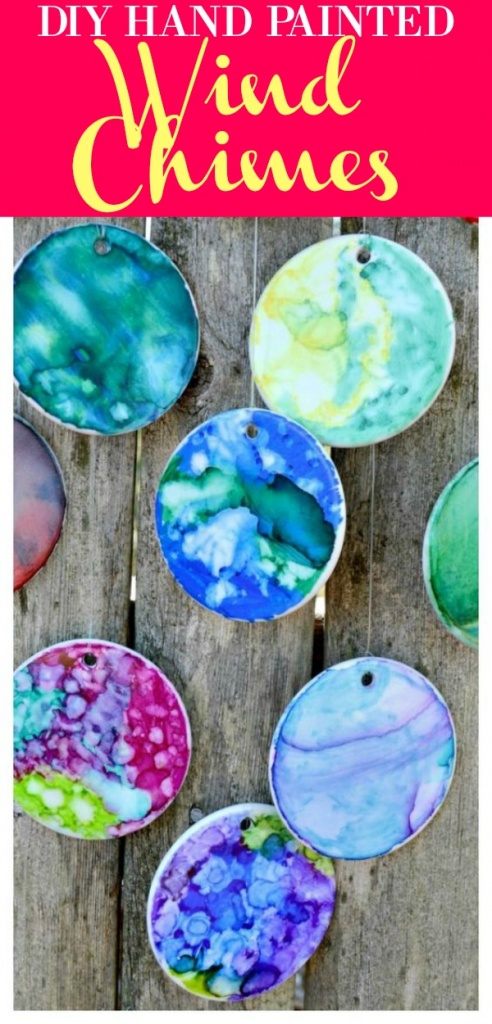 DIY Wind Chimes - Hand Painted