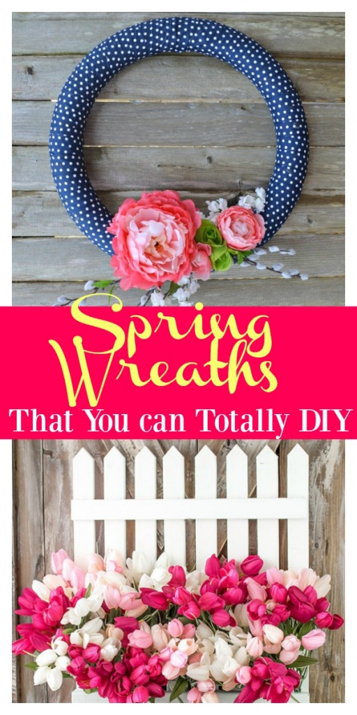 Simple Spring Wreaths That You Can Totally DIY