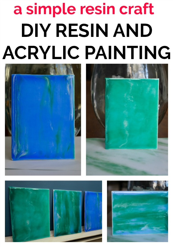 You are an artist! This simple DIY Wall art with resin and acrylic is doable for any skill level!