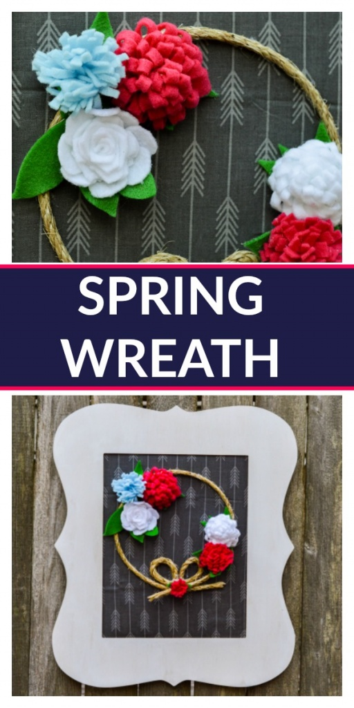 Let's a make a Simple Spring Front Door Wreath! This one features simple felt flowers. You can totally make this!