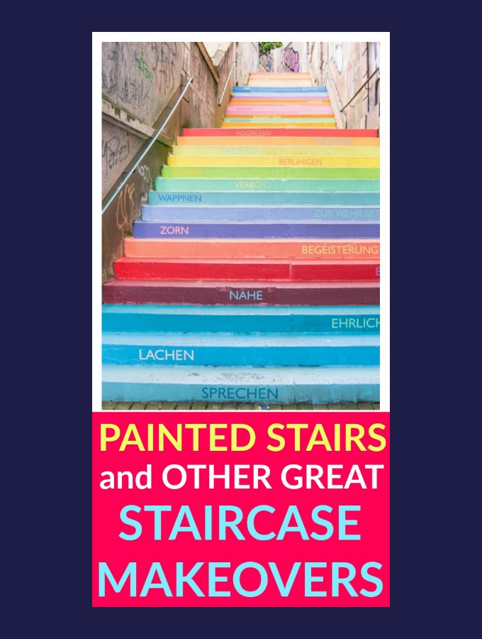 Painted Stairs and Other Great Staircase Makeovers
