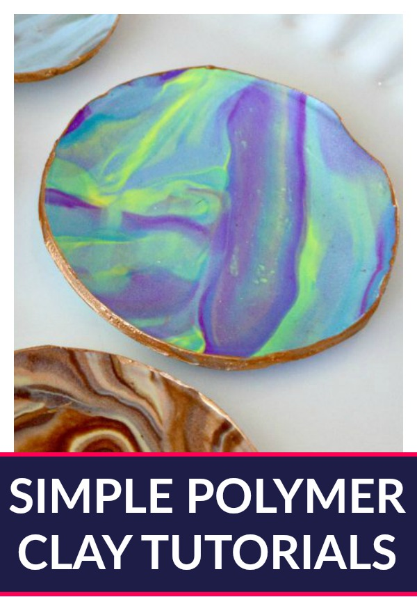 Simple Polymer Clay Tutorials - Satisfy your inner artist with these easy DIY Polymer Clay ideas. There are clay projects for every skill level included!