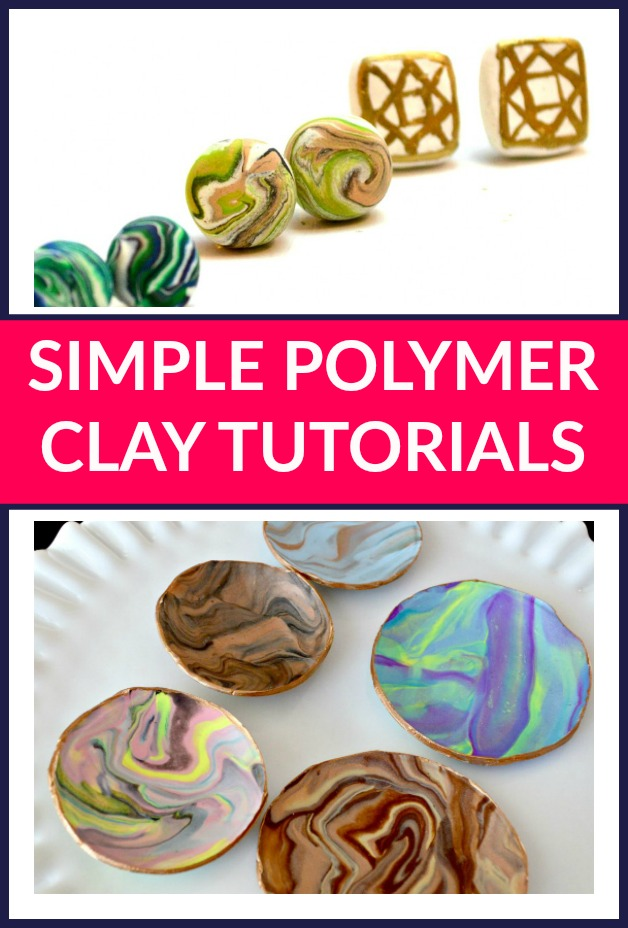 Simple Polymer Clay Tutorials - Ready to make something? These easy polymer clay tutorials will have you itching to DIY with some clay.