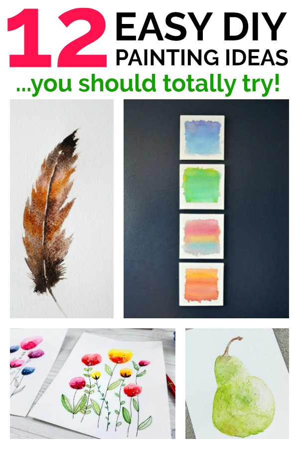 Feeling creative? Check out these 12 Easy Painting Ideas. They are great for a beginner. Super simple craft!