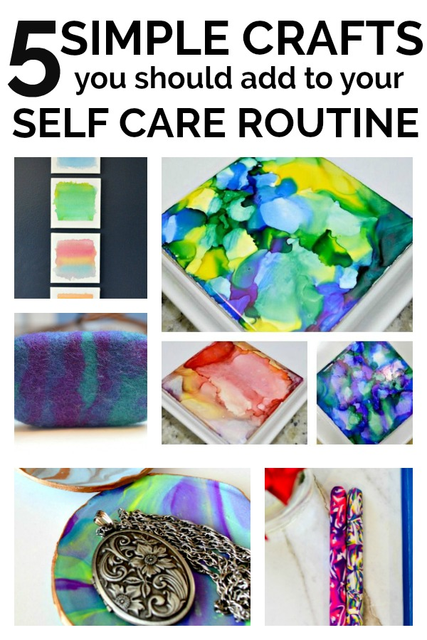 Art can be considered Self Care. Crafts can be considered Art. Here's why I include Crafts in my Self Care routing and 5 Simple projects you can include in yours!