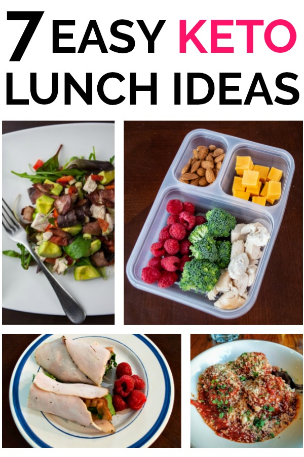 7 Easy Keto Lunch Ideas for When You Don't Feel Like Cooking - I'm here to solve your Keto Lunch problems. Don't cook at lunch, just prepare ahead of time and stay in Ketosis!