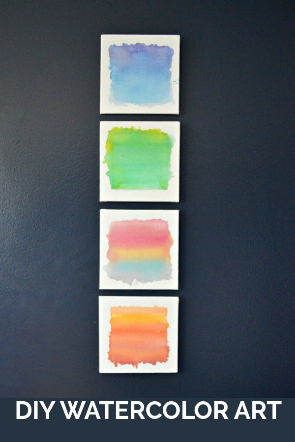 So Simple Craft - DIY Watercolor Art. You can totally make this!
