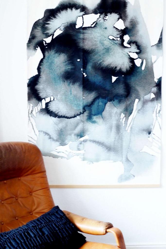 Ikea Hack - Watercolor Wall Hanging