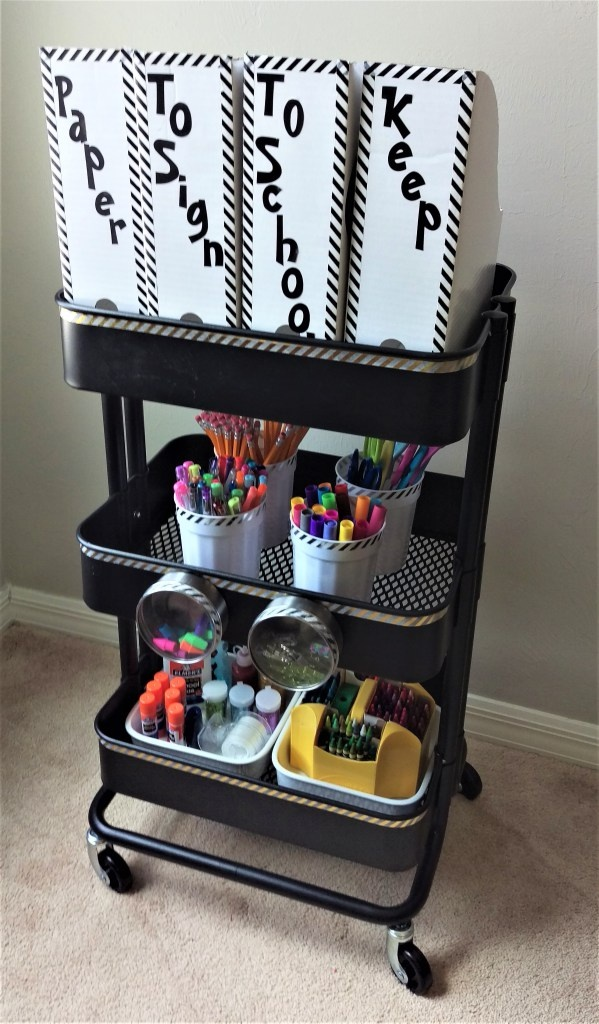 Ikea Hack - Rolling Cart to Homework Station