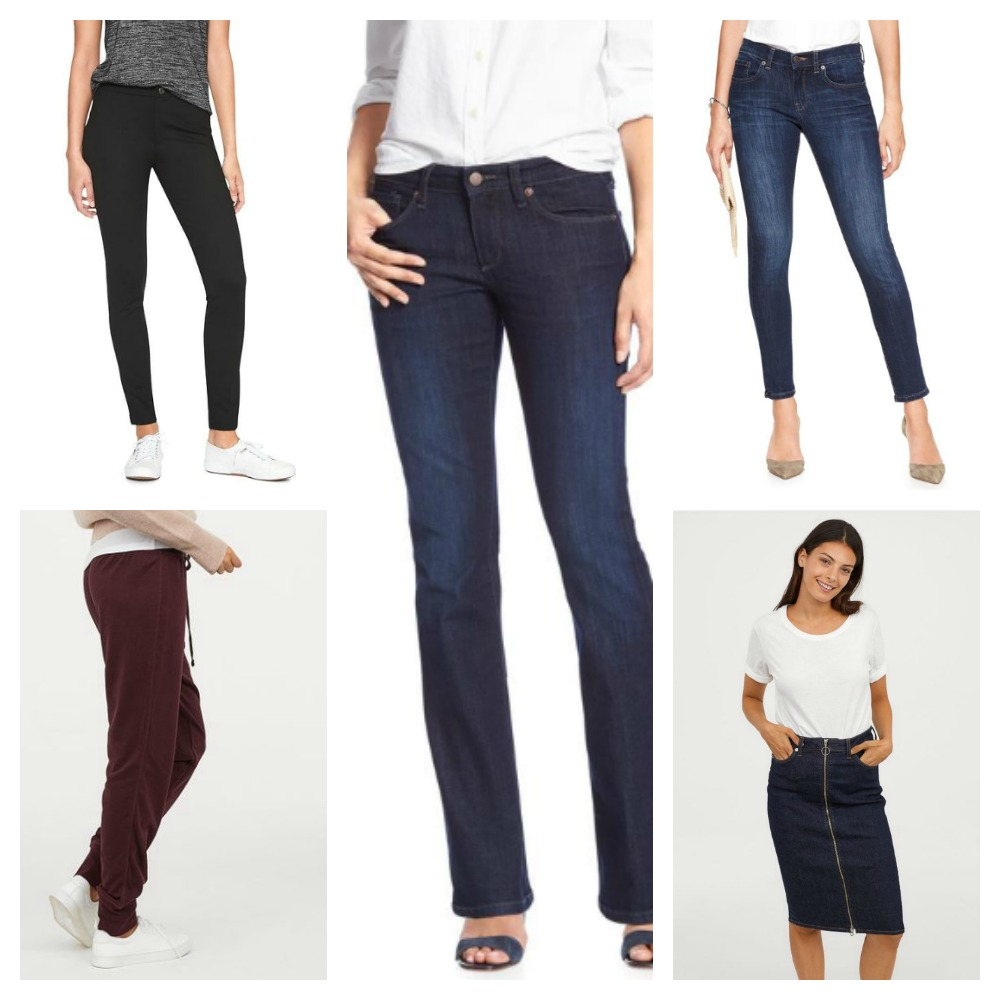 Bottoms for Fall Capsule Wardrobe