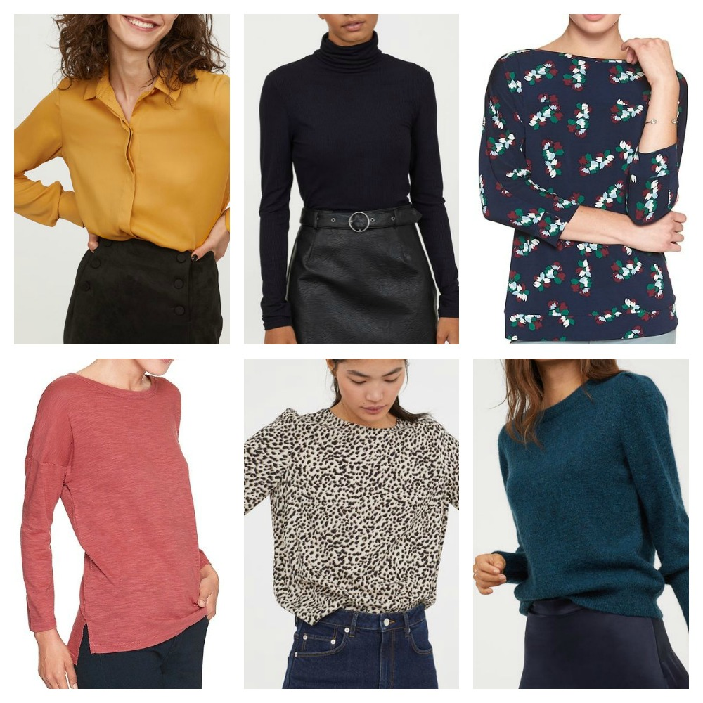 Tops for Fall Capsule Wardrobe
