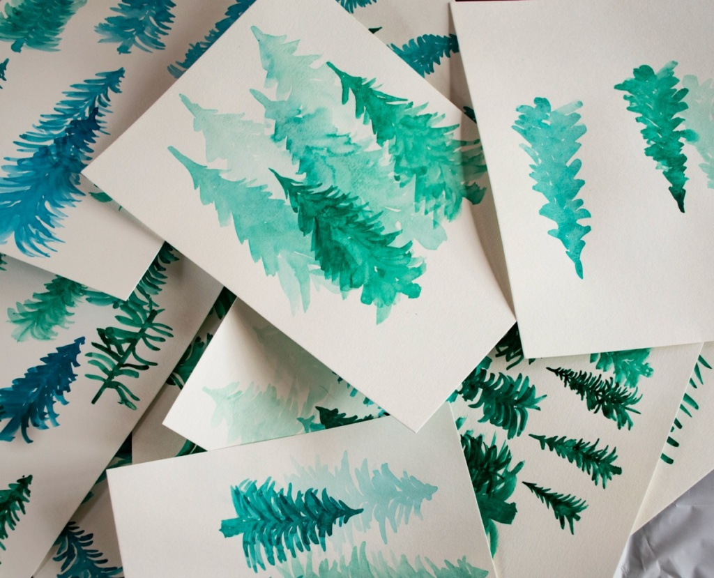 Easy DIY Painting to Try - Pine Forest