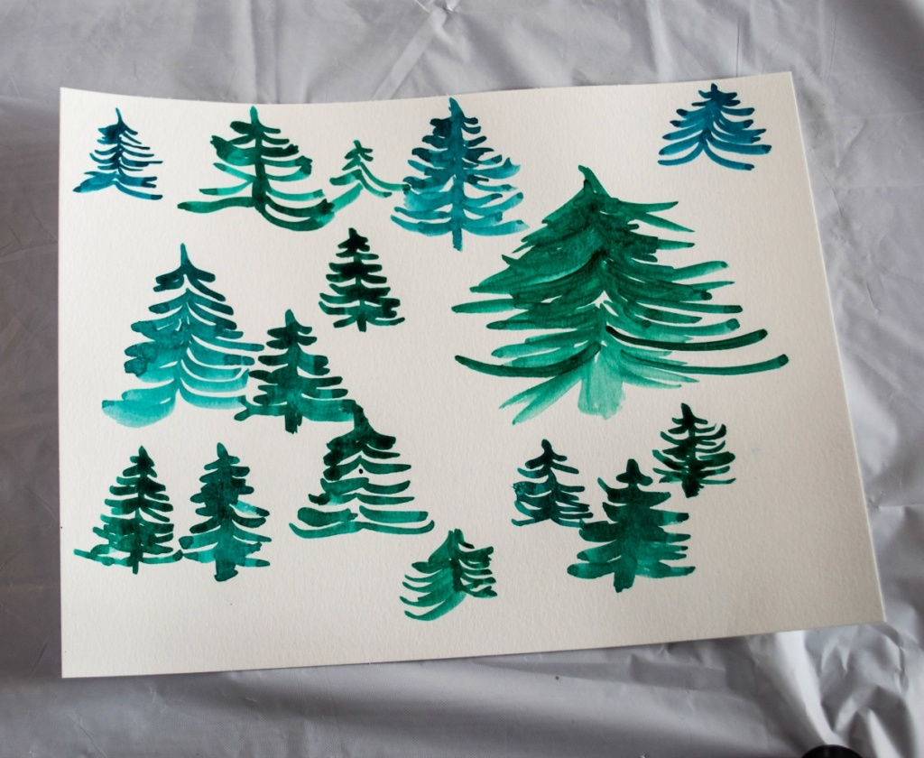 how not to paint pine trees