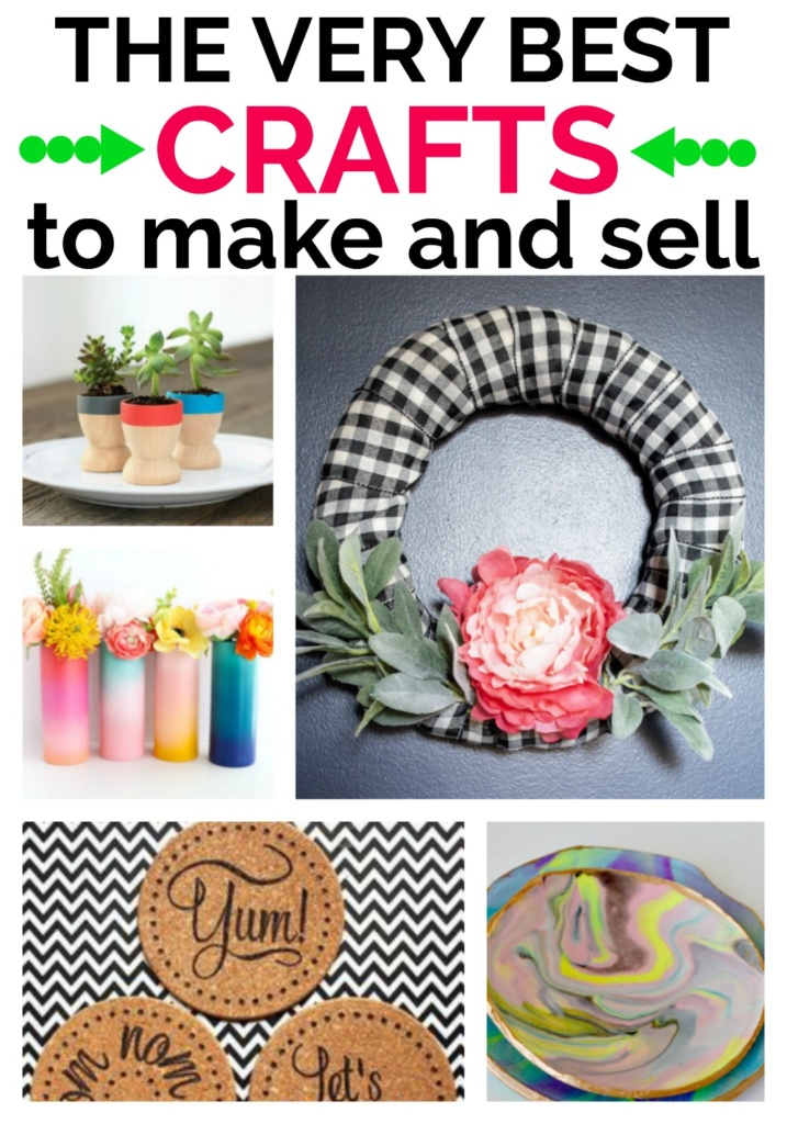 People love Unique, Handmade items! I've pulled together 13 Gorgeous and Simple Crafts that you can make and sell for extra cash!