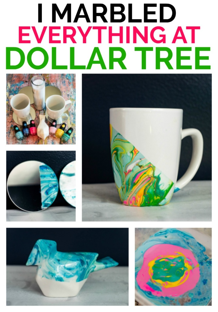 "A so simple craft for all of you who say you aren't ""Creative"" You TOTALLY are! Try marbling with nail polish. You can get everything you need at the Dollar store. This is a super simple craft!"