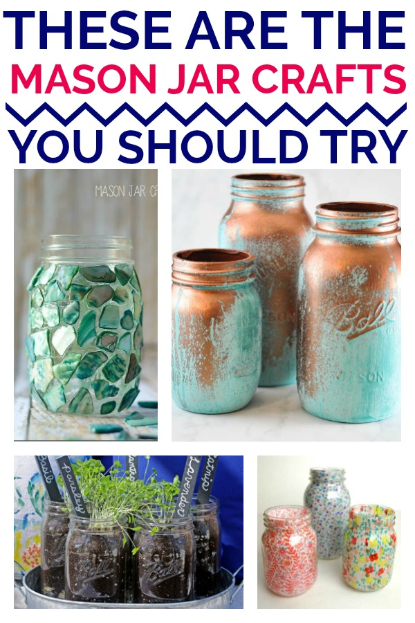 15 Mason Jar Crafts that You Will LOVE! Which one will you try?