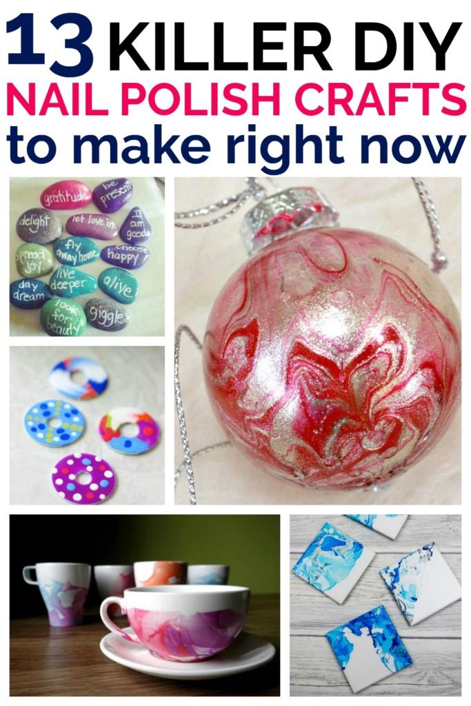 13 Killer DIY Nail Polish Crafts You Should Make Right Now!