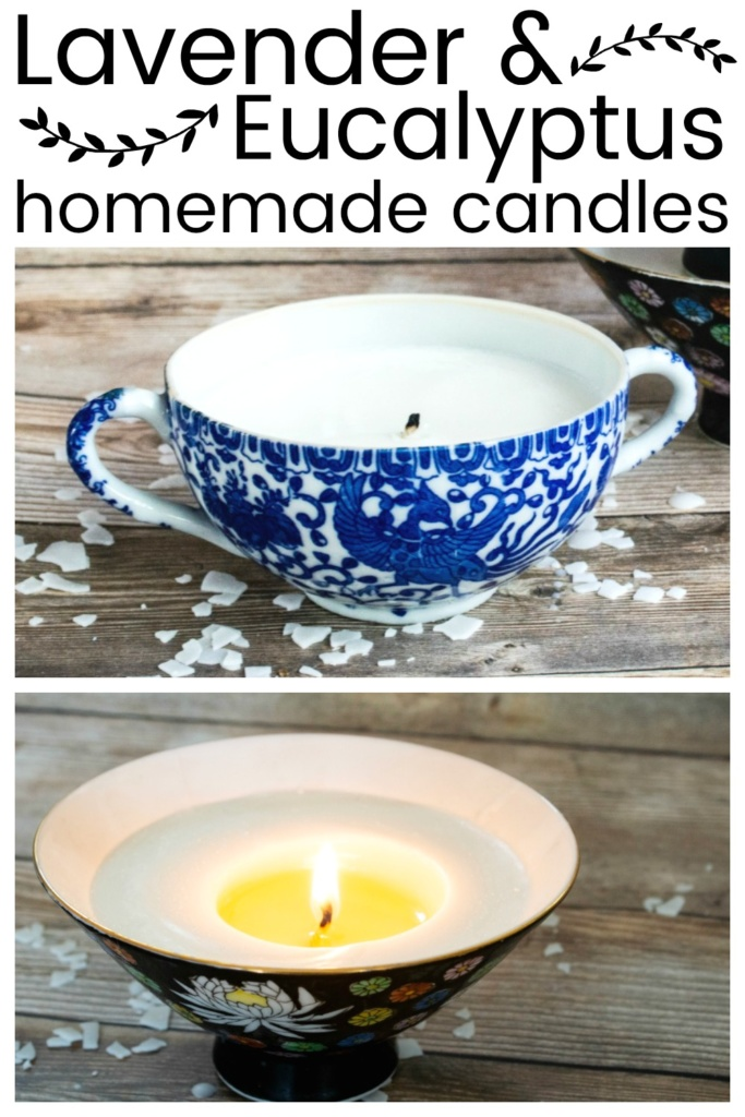 Homemade Lavender & Eucalpytus Candles - They are easier to make than you think! Candlemaking can be a so simple craft!