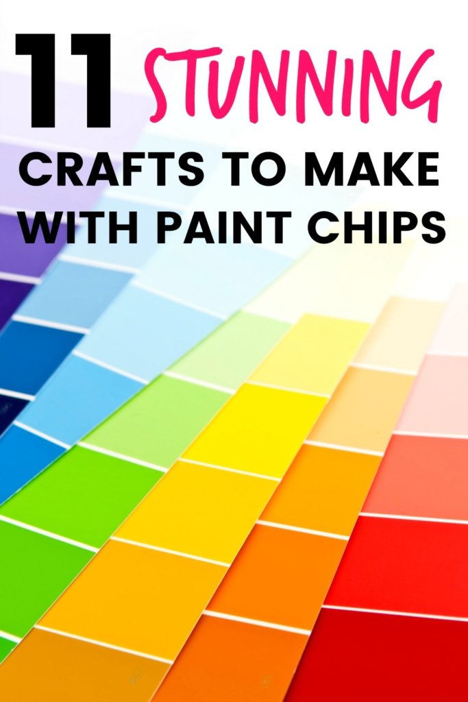 11 Stunning Crafts to Make with Paint Chips. Making art doesn't have to be difficult or expensive! Try one of these colorful projects made with paint chip samples from the hardware store!