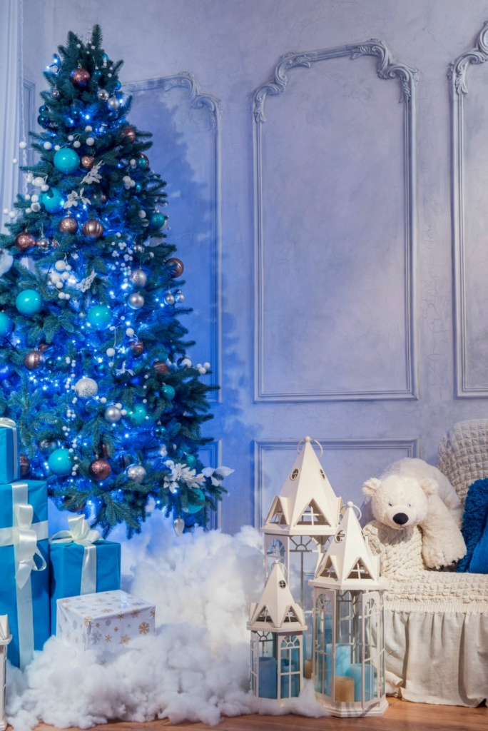 dreamy blue christmas tree