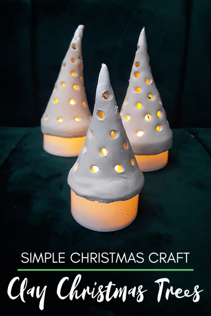 Easy Christmas Craft - DIY Clay Christmas Trees