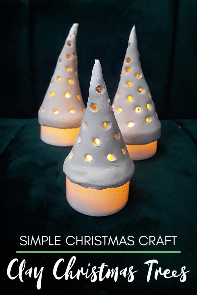 Easy Christmas Craft - DIY Clay Christmas Trees